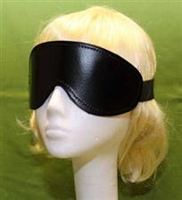 Black Leather Blindfold    Only  $13.99