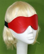 Red Leather Blindfold    Only  $12.99