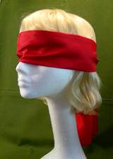 "Blindfold Red Extra Long 58"" ~ Only  $6.95"