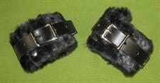 "Black Wrist Cuffs - 2"" Great Spanking Cuffs $22.95"