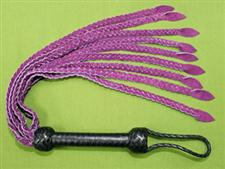 Purple Braided Leather FLOGGER - 28&#34;  Great Sting WOW $35.99