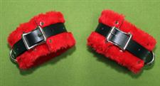 "Red Wrist Cuffs - 2"" Great Spanking Cuffs $22.95"