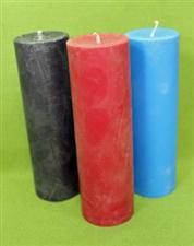 "Set of Three - Soy Pillar Candle  -  6"" x 1 3/4""  Only $21.99  Save $2.00"