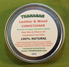 Leather and Wood Conditioner -  Four Ounce Tin - Only $8.99