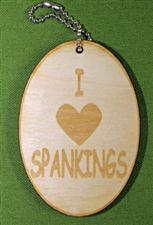 Luggage / Key TAG - I LOVE SPANKINGS  -  WOW  $4.99