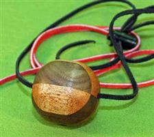 Walnut & Mahogany Wooden Ball Gag / Necklace  Handcrafted  $14.99 Very Nice