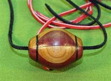 Purpleheart & Cherry Wooden Ball Gag / Necklace  Handcrafted  $14.99 Very Nice