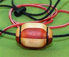 Padauk & Cherry Wooden Ball Gag / Necklace  Handcrafted  $14.99 Very Nice