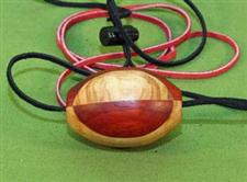 Cherry & Padauk  Wooden Ball Gag / Necklace  Handcrafted  $14.99 Very Nice