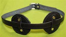 Adjustable Fur Lined Black Leather Blindfold    Only  $12.99