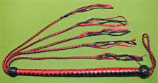 "Red & Black Whip / Flogger   39""   ~  Breathtaking and only   $37.99"