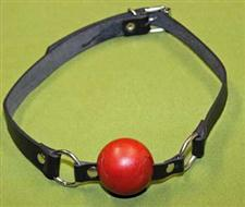 "RED BALL GAG  - 1 3/4"" Rubber Ball and Two Rings  ~  $13.99  WOW"