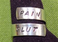 PAIN SLUT Wrap Ring  - Great Conversation Starter  -  Only $14.99