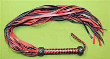 "Red & Black MAGNUM Flogger - Our Longest and Most Awesome Flogger  at  46"" with 30 tails  ~  Simply the Best   ~   $64.99 - On Sale WOW $59.99"