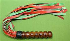 """Balled Handle FLOGGER with Red & Green Falls  - 25+""""  25 Falls  -  $37.99"""