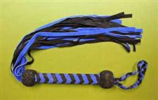 "Black & Blue FLOGGER - 27+""    25 Falls  -  Sensual  WOW $37.99 on Sale only $34.99"