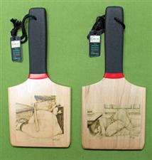 """HONEY I'M WAITING"" & ""HARDER"" - ONE Double Sided Patty's Paddle with Case  $28.99"