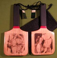 """NO PLEASE"" & ""DISOBEY"" - ONE Double Sided Patty's Paddle with Case  $28.99"