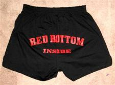 Red Bottom Inside Spanking Shorts WOW $15.95 NOW only $13.95