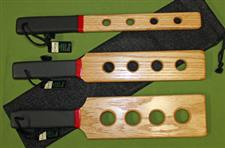 Oak Wooden Paddle Set (Holes) with Case ~ $49.95