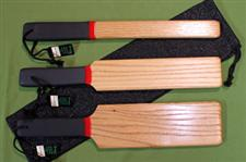 Solid Oak Wooden Paddle Set with Case   $59.99