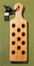 "TREMBLER  -  Oak Paddle with Holes  12"" x 3 1/2"" x 3/4""   Nice - $20.99"