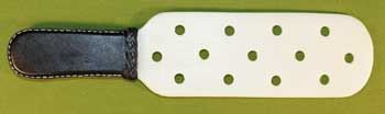 "White Teflon Paddle with Holes 14"" Long and 3 1/2"" Wide  $29.99"
