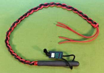 "Braided Leather SWHIP Red & Black   29""   (35"" with tails)  Very Stingy  $23.99"