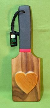 "Walnut Raised Heart Paddle  3 3/4"" x 12"" x 1/2""   Oh My  $24.99"