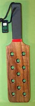 """SIZZLER WALNUT ~ Spencer Style Paddle - 11 hole -  16""""  $29.99"""