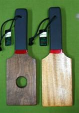 BOTTOM BURNER  Exotic Paddle Set ~ Mahogany & Walnut  ONLY   $34.99
