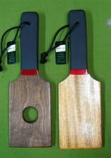 BOTTOM BURNER  Exotic Paddle Set ~ Mahogany & Walnut  ONLY   $36.99