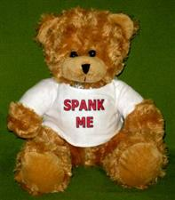 "Miss Spank Me ~ 12""  Light Brown Bear only $12.99"