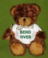 "Mr Bend Over  ~ 12"" Dark Brown Bear complete with Cane only $12.99"