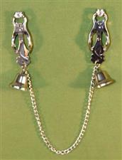 Japanese Clove Nipple Clamps with Bells & Chain - ONLY  $20.99