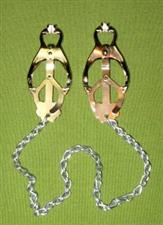 Japanese Clove Nipple Clamps with Chain - $14.99