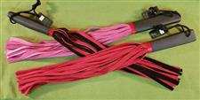 "Erotic Body Flogger - Assorted Colors  18""   -  $24.99"