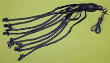 Two Finger Black Braided Cat O' Nine Tails FLOGGER - only $34.95