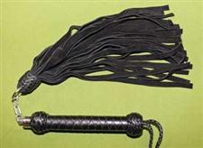 "Black Revolving Flogger - 27""  with 28 Falls  - $37.99"