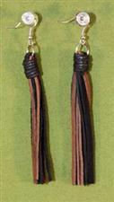 Flogger Earrings - Black & Brown $11.99