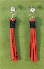 Flogger Earrings - Red $11.99