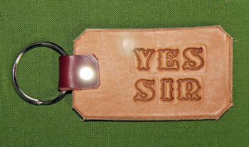 """Key Chain  -   """"YES SIR""""      Only $4.99"""