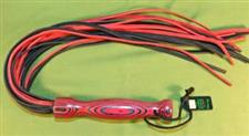 "Red & Black Leather Martinet  30""  - Just  $39.99"