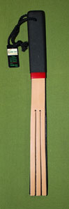 "Six Tail Russett - Black Tawse Double Strap -  1  1/4""  x  16"" - $22.99"
