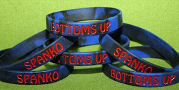 Spanko / Bottoms Up Silicone Bracelet -  Show you're Proud $2.99 - NOW only $1.99