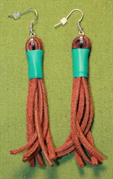 Flogger Earrings - Brown with Green Band  $8.99 on sale only $7.99