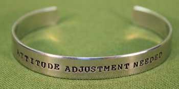 ATTITUDE ADJUSTMENT NEEDED  Bracelet  - Great Conversation Starter  -  Only $19.99