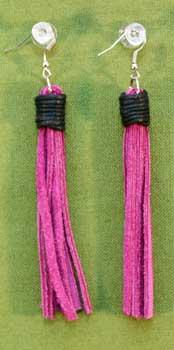 Flogger Earrings - Pink $11.99