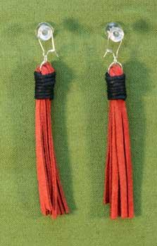 Flogger Earrings - Red $11.99
